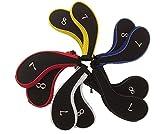 ファスナー タイプ アイアン カバー 番手 刺繍 入り 10個 セット(赤、 青、 白、 黄、 黒、ピンク)