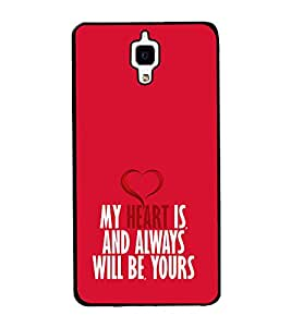 My Heart will Always be Yours 2D Hard Polycarbonate Designer Back Case Cover for Xiaomi Redmi Mi 4 :: Redmi Mi 4