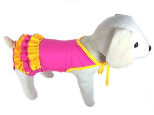 UP Collection The Ballerina Triple Tier Bathing Skirt for Dogs, Pink, Medium