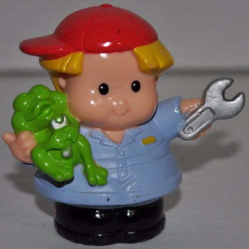 Little People Mechanic Eddie (2002) - Replacement Figure Accessory - Classic Fisher Price Collectible Figures - Loose Out Of Package & Print (OOP) - Zoo Circus Ark Pet Castle - 1