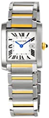 Cartier Midsize W51012Q4 Tank Francaise Stainless Steel