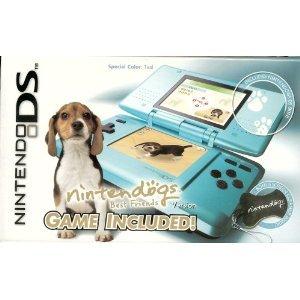 Nintendo DS Teal with Nintendogs Best Friends Bundle