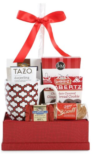 Christmas Cheer Cookie & Candy Gift Basket - Red