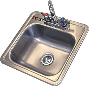 Amazon Com Aero 15 Inch Wide Stainless Steel Drop In Sink