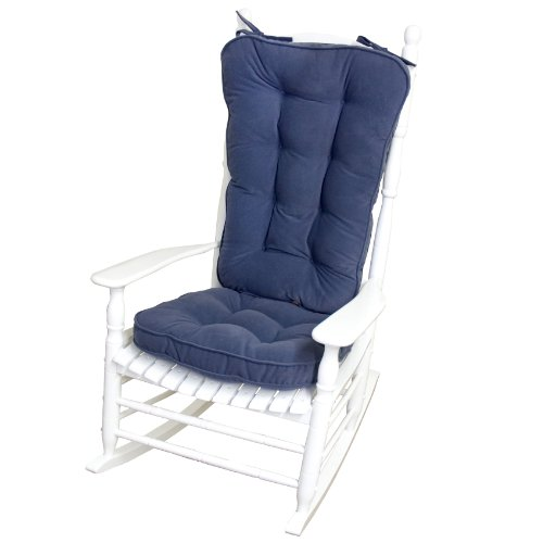 Greendale Home Fashions Jumbo Rocking Chair Cushion Set Hyatt Fabric, Denim front-926515