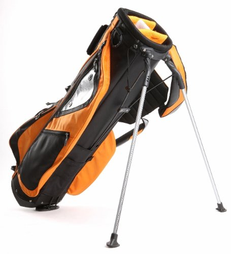 Light Weight Golf Stand Carry Bag- Black/ Orange