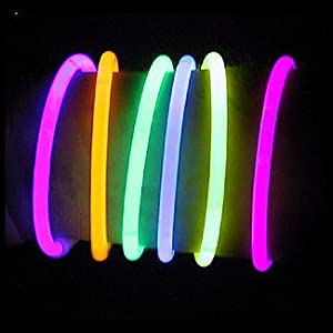 "8"" LumiStick Brand Glowsticks Glow Stick Bracelets Mixed Colors (Tube of 100)"