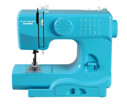 Janome Turbo Teal Basic, Easy-to-Use, 10-Stitch Portable, Compact Sewing Machine with Free Arm only 5 pounds (2 Stitch Sewing Machine compare prices)