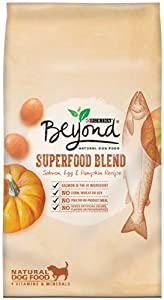 Purina Beyond Superfood Blend Salmon, Egg and Pumpkin Recipe Natural Dog Food, 6/3.7lb bags , pack of 6
