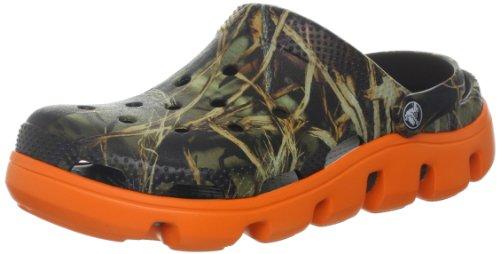 crocs Men's Duet Sport Realtree Clog,Chocolate/Orange,4 M US
