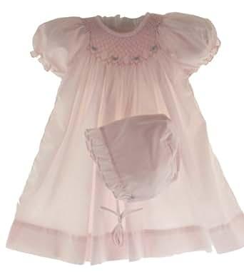 Amazon Petit Ami Newborn & Infant Girls Pink Smocked