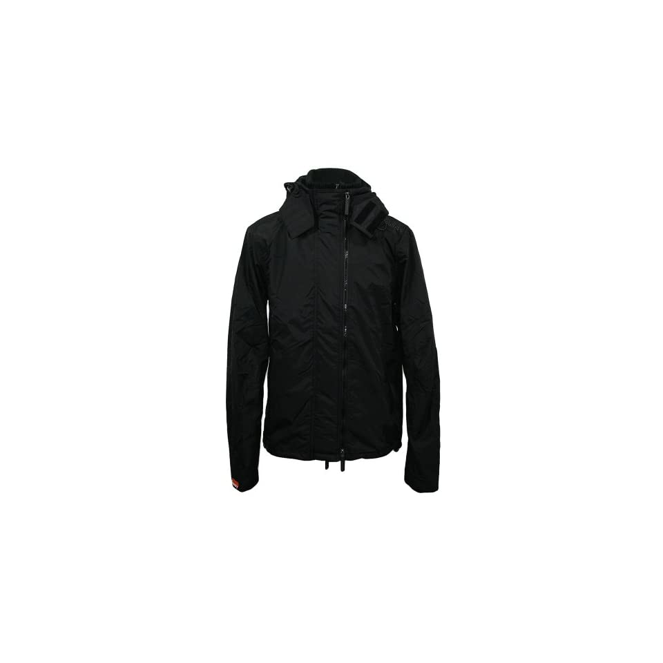 new concept 2d346 205e0 Superdry Jacke Hooded Polar Windcheater MS5DL006F1 black on ...