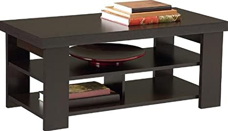 Premium Coffee Table for Living Room Wood Furniture in Low Black Modern and Contemporary Design