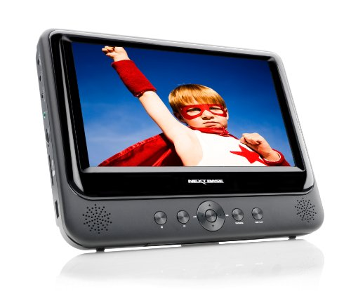 NB49 Tragbarer DVD Player 22,8 cm (9 Zoll) inkl. Auto-Halterung und Zubehör
