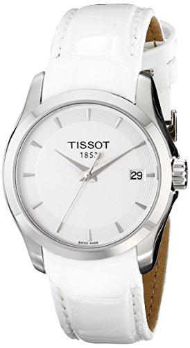 Tissot para mujer t035, 210,11,011,00 esfera blanca Couturier reloj