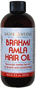 Brahmi-Amla Oil, 16 oz (no mineral oil)-herbal hair growth massage oil ~ New larger size !