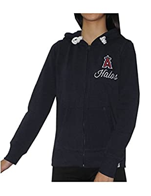 MLB Los Angeles Angels of Anaheim Womens Athletic Zip-Up Hoodie