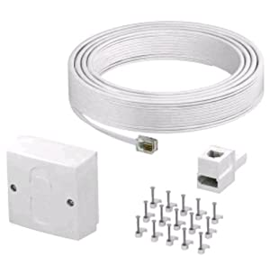 commtel bt telephone cable lead extension kit with amazon. Black Bedroom Furniture Sets. Home Design Ideas
