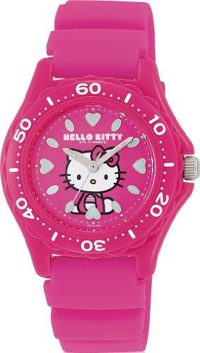 [シチズン キューアンドキュー]CITIZEN Q&Q 腕時計 Hello Kitty (ハローキティ) ダイバー アナログ表示 10気圧防水 ピンク VQ75-430 レディース