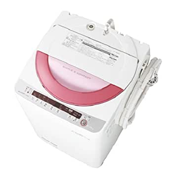シャープ 6.0kg 全自動洗濯機 ピンク系SHARP 穴なし槽 ES-GE60P-P