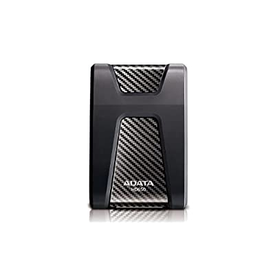 ADATA USA DashDriv Durable HD650 1TB Anti-Shock Portable External Hard Drive - Black (AHD650-1TU3-CBK)