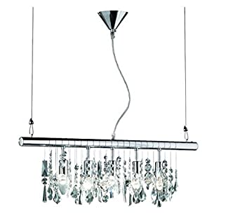 led glas kristall balken 5x4w 72cm mit klaren glasbehang. Black Bedroom Furniture Sets. Home Design Ideas