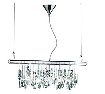 led glas kristall balken 5x4w 72cm mit klaren glasbehang k rzbar 2700k warmwei dc655. Black Bedroom Furniture Sets. Home Design Ideas