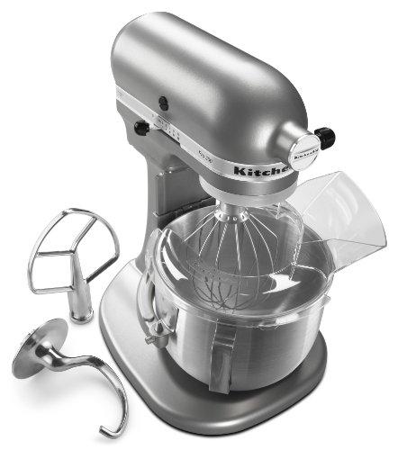 KitchenAid KSM500PSSM Pro 500 Series 10-Speed 5-Quart Stand Mixer, Silver Metallic