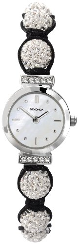 Crystalla by Sekonda Women's Quartz Watch with White Dial Display and Silver Nylon Strap 4711.27