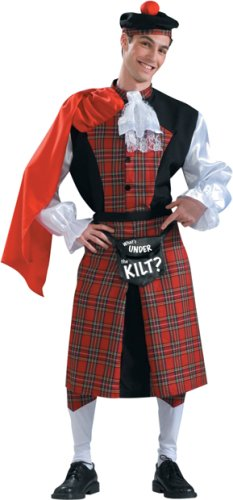Adult Men's Funny Scottish Kilt Halloween Costume