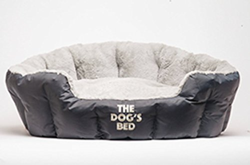 The Dog's Bed, Premium Plush Dog/Puppy Beds in Grey & Brown M/L/XL, Fully Washable Removable Pillow, Hyper-Allergenic, & Extremely Soft & Comfortable - The Ultimate in Pet Luxury:) (Cheap Big Dog Beds compare prices)