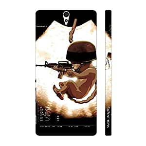 Enthopia Designer Hardshell Case SOLDIER BABY Back Cover for Sony Xperia C5