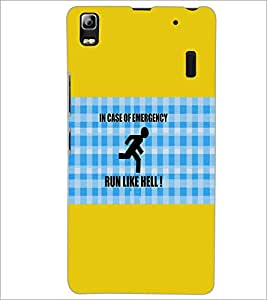 PrintDhaba Quote D-3101 Back Case Cover for LENOVO A7000 (Multi-Coloured)