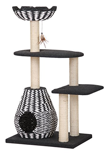 PETPALS GROUP Four Level Between Paper Rope Perch and Condo Lounger, 27 x 19 x 49