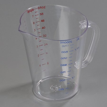 Half Gallon Size Clear Polycarbonate Commercial Measuring Cup -- 1 each