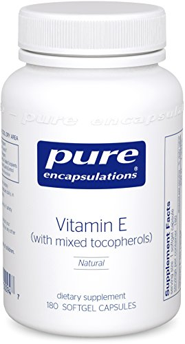 Pure Encapsulations - Vitamin E (with mixed tocopherols) - Dietary Supplement for Proper Cellular and Cardiovascular Functioning* - 180 Softgel Capsules
