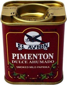 Suchen : Pimentón Dulce Ahumado Süßes geräuchertes Paprikapulver Ohne künstliche Farbstoffe! (Dose 75g)