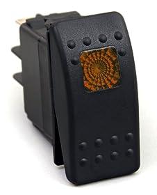 Daystar KU80013 20 Amp Amber Light Rocker Switch Kit