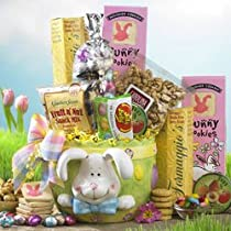 Ceramic Easter Bunny Planter of Treats Gourmet Food Gift Basket - Easter Basket