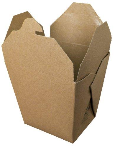 "Fold-Pak Earth 26MWEARTHM Paper Microwaveable Food Pail, 3-1/8"" Length x 2-5/8"" Width x 4"" Height, 26-Fluid Ounce Capacity (Case of 450)"