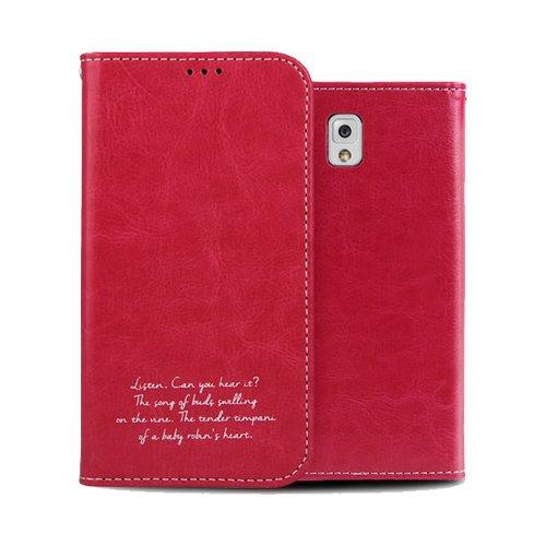 Galaxy S4 ケース Airlink Flip Case ギャラクシー S4 手帳型 フリップ ケース ホットピンク(Hot Pink) / SC-04E 携帯 スマホ スマートフォン モバイル ケース カバー ダイアリー カード 収納 ポケット スロット