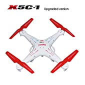 Potensic® Syma X5C-1 Upgraded Version Special Customized Version Camouflage Rotating Blade 4 Channel 2.4ghz RC Explorers Quadcopter Drone with Camera Toys for Children FJ0072