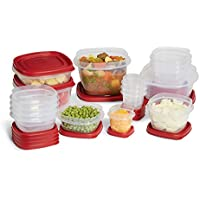 34-Piece Rubbermaid Plastic Lid Food Storage Set