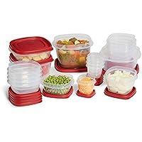 Rubbermaid 34-Piece Plastic Lid Food Storage Set
