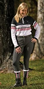 TuffRider Women's Ribb Full Seat Breeches (Long), Light Tan, 24