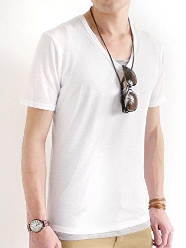 (オークランド) Oakland Vネック デザイナーズ カットソー Tシャツ ビター サーフ ストレッチ リゾート 細身 メンズ