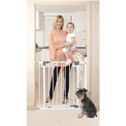 Dreambaby Liberty Security Gate w/ Stay Open Feature- White - 1
