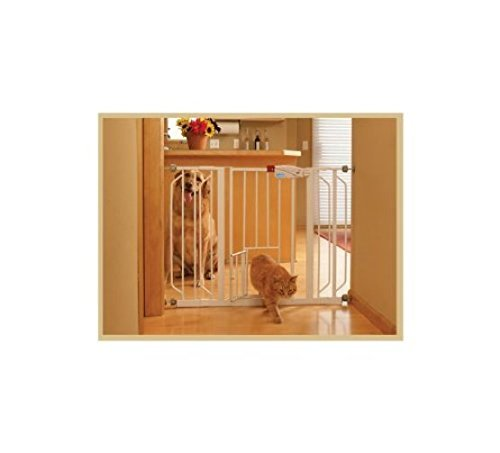 Carlson Pet Gates 916039 Extra Wide Walk Through Gate With Pet Door front-725981