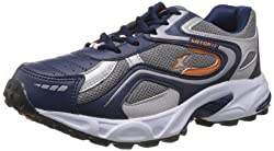 Sparx Mens Navy Blue and Orange Running Shoes - 6 UK (SM-171)