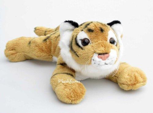 Plüschtier Tiger Baby - liegend - braun - 29